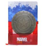 Marvel Captain America Metal Shield Premium Journal Notebook