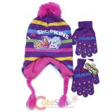 Shopkins Laplander Knitted Beanie Hat Gloves Set