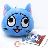 Fairy tail Happy Face Plush Doll Mini Key Chain