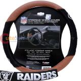 NFL Oakland Raiders Steering Wheel Cover Football Grip