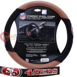 NFL San Francisco 49ers Steering Wheel Cover Football Grip