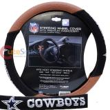 NFL Dallas Cowboys Steering Wheel Cover Football Grip