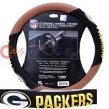 NFL Green Bay Packers Steering Wheel Cover Football Grip