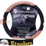 NFL Pittsburgh Steelers Steering Wheel Cover Football Grip