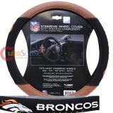 NFL Denver Broncos Steering Wheel Cover Football Grip