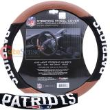 NFL New England Patriots Steering Wheel Cover Football Grip