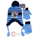 Paw Patrol Laplander Knitted Beanie Hat Gloves Set