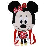 Disney Minnie Mouse Flat Plush Doll Backpack -20in Red