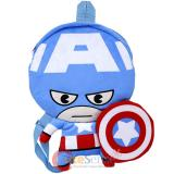 Marvel Captain America Flat Plush Doll Backpack -16in