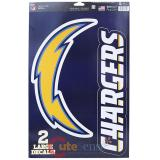 NFL San Diego Chargers Window Clings Decal Sheet -Big Logo 11x17