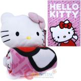 Sanrio Hello Kitty Plush Doll w/ Fleece Throw Blanket Pink