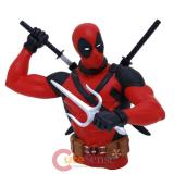 Marvel  Deadpool Bust Figure Coin Bank Action