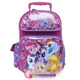 "My Little Pony Large School Rolling Backpack 16"" Roller Bag - Friendship Magic"