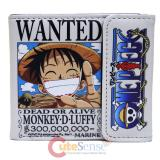 One Piece Bi Fold Wallet Leather Anime Wallet Wanted