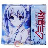 Hatsune Miku Bi Fold Wallet Leather Anime Wallet