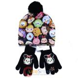 Disney Tsum Tsum Beanie Hat Gloves Set