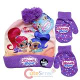 Shimmer And Shine Beanie Hat Mitten Gloves Set