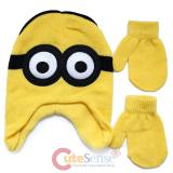 Despicable Me Minion Laplander Beanie Mitton Glove Set