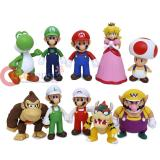 Nintendo Super Mario Poseable Vinyl Figure 10pc Set