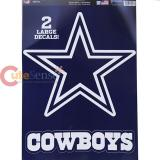 NFL Dallas Cowboys Window Clings Decal Sheet -Big Logo 11x17