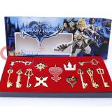 Kingdom Hearts Metal KeyBlade Sword Weapon Set -13pc Jumbo Set