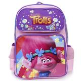 "Trolls Poppy Large School Backpack 16"" Grils Book Bag"