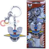 Mazinger Z Head Key Chain 3D Color Metal Key Ring