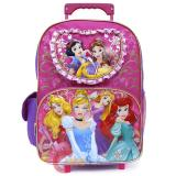 "Disney Princess Floral Large School Rolling  Backpack 16"" Roller Bag"
