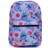 Lilo and Stitch AOP Large School Backpack Purple Aloha