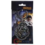 Harry Potter Hogwarts School Crest Key Chain Pewter Metal