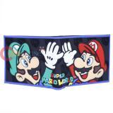 Super Mario PVC Bi Fold Wallet with Luigi