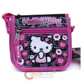 Sanrio Hello Kitty String Wallet Mini Shoulder Cross Bag Black Pink