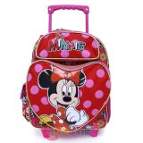 "Disney Minnie Mouse Roller Backpack 12"" Small Rolling Bag - Comic AOP"