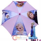 Disney Frozen Elsa Anna Olaf Kids Umbrella with 3D Sister Figure Handle