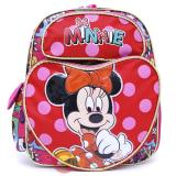 "Disney Minnie Mouse School Backpack 12"" All Over Book Bag - Heart Pocket"