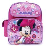 "Disney Minnie Mouse School Backpack 12"" Bag Glittering Pink"