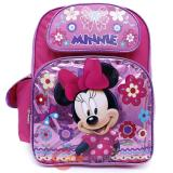 "Disney Minnie Mouse School Backpack Large 16"" Bag -Glittering Pink"