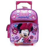 "Disney Minnie Mouse Roller Backpack 12"" Small Rolling Bag -Glittering Pink"