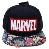 Marvel Halftone Black Snapback Hat