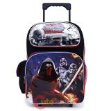 "Star Wars Large School Roller Backpack 16"" Trolley Rolling Bag"