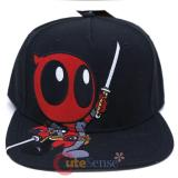 Marvel Little Deadpool Snapback Hat Trucker Flat Bill Cap