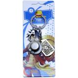 One Piece Portgas D Ace Hat Key Chain Pewter Key Holder