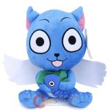Fairy Tail Happy Plush Doll with Fish Soft Stuffed Toy