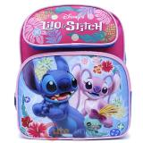 "Disney Lilo and Stitch 12"" School Backpack Book Bag Pink Angel"