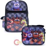 Five Nights at Freddys Large School Backpack Lunch Bag Set -Black