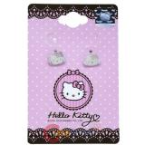 Sanrio Hello Kitty Face Enamel Stud Earrings