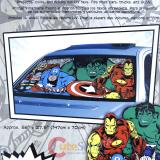 Marvel Comic Windshield Front Window Sun Shade Auto Car