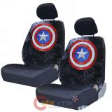 Marvel Captain America Front Car Seat Cover Set -Low Back w Head Rest Covers
