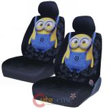Despicable Me Front Car Seat Cover Set -Low Back w Head Rest Covers