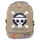 One Piece Skull Logo Backpack Canvas Large